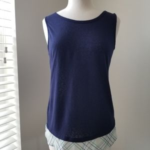 Charming Charlie Tank top, blue top, Small